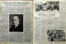 Danger of Monopolies / The Magic of May, May Day Vintage Article 1947