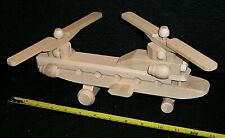 Chinook helicopter model aircraft. Solid Beech wood