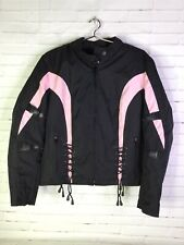 Xelement Advanced Motorcycle Gear Womens Size M Jacket Pink Black Armor & Liner