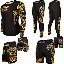 Velo Mma Compression Shorts Training Leggings Rash Guard Mma Fitness Exercise