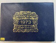 1973 REPUBLIC OF INDIA PROOF COIN SET - BOMBAY MINT 10-COIN SET W/ BOX & COA
