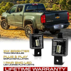 For 2015-2020 Chevy Colorado GMC Canyon FULL-SMD LED License Plate Lights Lamps