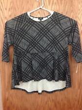 ALFANI Womens Fashion Black / Gray Blouse size 3X (18A14)