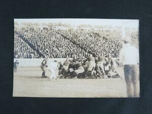 (2) 1916 Michigan vs Cornell Football Real Photo Postcards
