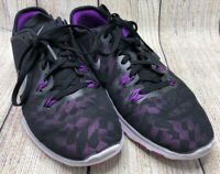 NIKE Free TR Fit 5 Purple Black Silver Running Athletic Sneakers Shoes Women's 8