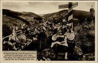 Lauterbach Schwarzwald AK ~1940 Wegweiser Schramberg Kinder Gedicht ungelaufen
