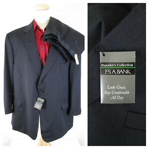 Jos. A. Bank Traveler Big & Tall Charcoal Gray Wool Suit 58R Pants 50 X 30 $840