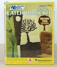 National Yarn Crafts Vintage Latch Hook Rug Kit Brown Tree R118 New Sealed Box