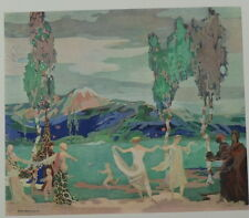 The Fields of Avatar by George Sheringham. Color Plate. The Studio, 1915.
