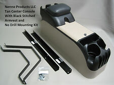 P71 Tan Center Console with Black Armrest and No Drill Mount Kit Crown Victoria