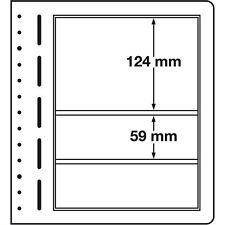 338117 LEUCHTTURM Blankoblätter, LB3MIX, 3er Einteilung, 190x124 & 59 mm, 10 st.