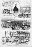JOHN BROWN MONUMENT DEDICATION AT OSAWATOMIE KANSAS ORATION CABIN 1877 HISTORY