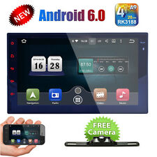"Quad Core Android 6.0 GPS Car Radio Stereo MP5 Player 7"" Double 2DIN 3G WIFI+CAM"