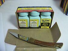 1960 CHRYSLER CORP DUPLI-COLOR TOUCH-UP SEASPRAY  NOS ORIG 3 BOTTLE BOX