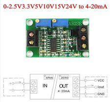 voltage to current module 0-2.5V3.3V5V10V15V24V to 4-20mA current transmitter