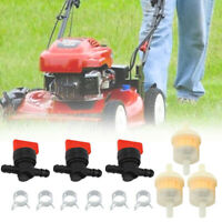 Lawn Mower Parts Fuel Gas Filter Shut Cut Off Valve Clip Kit For Briggs Stratton