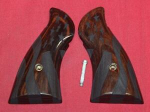 Smith & Wesson N Frame Carved Wood Grips