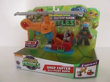TMNT TEENAGE MUTANT NINJA TURTLES HALF SHELL HEROES DROP COPTER & PILOT RAPH