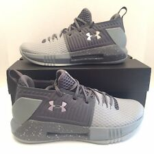 New Under Armour UA Drive 4 Low Basketball Shoes Gray Size 10 Mens 3000086-110