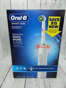 Oral-B Smart 1500 Rechargeable Toothbrush Type 3757 White NEW