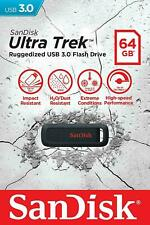 SanDisk 64GB Ultra Trek USB 3.0 Rugged Flash Drive 130MB/s SDCZ490-064G-G46
