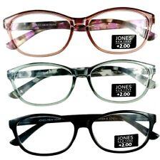 3 Pack +2.00 Premium Reading Glasses Designer Readers Jones New York Multi-Color