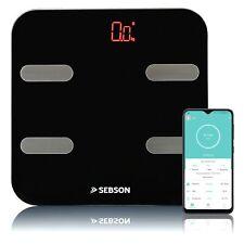 Personenwaage digital Bluetooth Körperfettwaage Glas Analysewaage App SEBSON