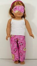 DOLL PAJAMA FOR American Girl Doll Top Pants with Frozen Design Mask CLOTHES