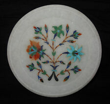 "6"" Marble Plate Malachite Floral Decorative Mosaic Turquoise Home Decor Gifts"