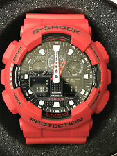 Casio G-Shock Red Resin Watch GA100B-4A
