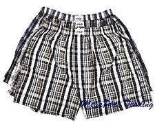 Mens Cotton Boxer Shorts in Plain Check Big Sizes S M L XL 2XL 3XL 4XL 5XL 6XL