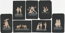 Seven Edward Merrill American Folk Art Birchbark Vignette Cards