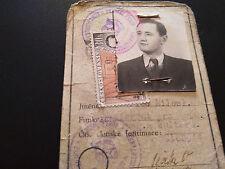 1954 COMMUNIST PARTY OF CZECHOSLOVAKIA MEMBER CARD LIST