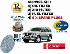 FOR MITSUBISHI SHOGUN SPORT 3.0 2000-2009 OIL AIR FUEL FILTER SERVICE KIT PLUGS