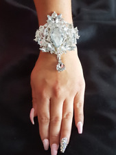 Crystal wrist corsage in  SILVER, GOLD OR ROSE GOLD,  made  to order item