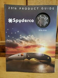 SPYDERCO 2016 PRODUCT GUIDE NEW CATALOG,132 PAGES, STEEL CHART BOOK