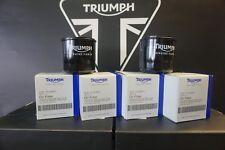 Genuine Triumph Oil Filters x 4 Inc Sump Washer