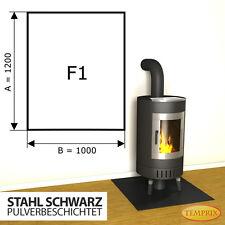Kaminbodenplatte Funkenschutz ✔ Ofenplatte Kaminofenplatte Stahl ✔ schwarz F1