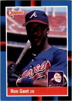 1988 Ron Gant Donruss Baseball Card #654