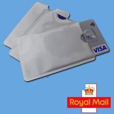 10 X Bloqueo Rfid Manga Tarjeta de Crédito Protector Banco Soporte para Carteras