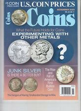 US COIN PRICES MAGAZINE NOVEMBER 2020 COINS WITH OTHER METALS JUNK SILVER