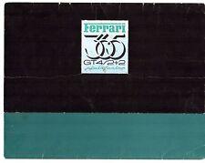 FERRARI 365 GT4 2 +2 1972-76 UK mercato multilingue SALES BROCHURE