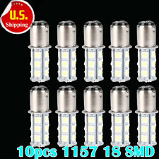 10PCS Cold White T25/S25 1157 Bay15d 18-SMD 5050 LED Reverse Light Bulb 12V