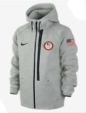 Nike Tech Fleece Gray Team USA Olympic Jacket 3M Rare Size Large
