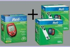 ReliOn Prime Blood Glucose Monitor System Meter Kit and 200 Sugar Test Strips