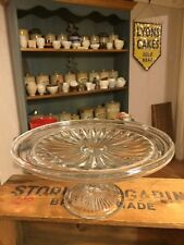 Vintage Classic Traditional Pretty Glass Cake Stand / Comport – Great! –