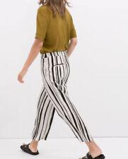 Zara Viscose Capri, Cropped Trousers for Women