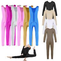 Girls Yoga Ballet Dance Gymnastics Leotard Catsuit Bodysuits Unitard Dancewear