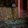 Rustic Solar Power LED Silhouette Floor Lamp Garden Patio Lantern Outdoor Light