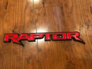 NEW 2010 - 2020 FORD SVT F150 RAPTOR RED AND BLACK TAILGATE OR BODY PANEL EMBLEM